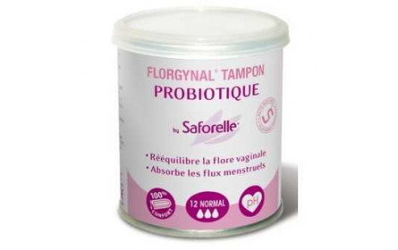 "Saforelle Florgynal Tampon Probiotique x 12  ""normal"""