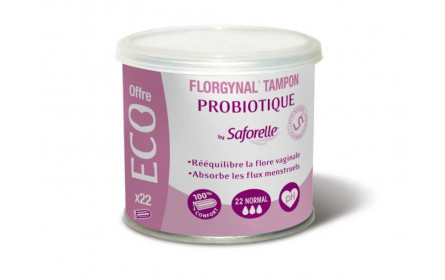 "Saforelle Florgynal Tampon Probiotique x 22 ""Normal"""
