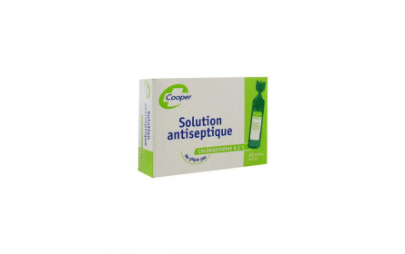 Solution Antiseptique Chlorhexidine 0,5% 12 x 5ml Cooper