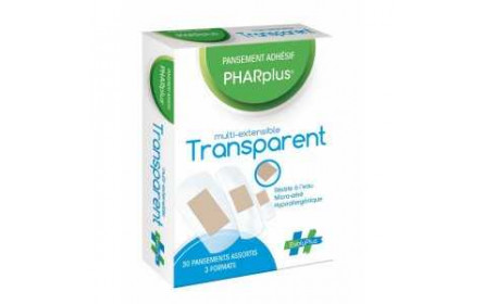 Apósito adhesivo Evoluplus Pharplus Multi-Extansible transparente x 30