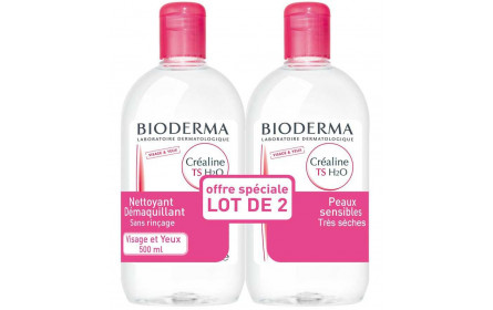 Bioderma Sensibio TS H2O offer of 2 x 500ml