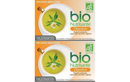 Nutrisanté Bio Digestion Infusion Offer of 2 x 20 sachets