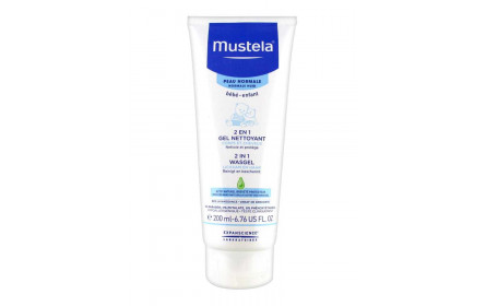 Mustela 2 in 1 hair and body baby lotion 200ml
