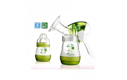Mam breastmilk pump + 2 baby bottles