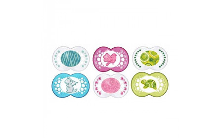 Mam Set of 2 silicone pacifier (classic deco) 6+months