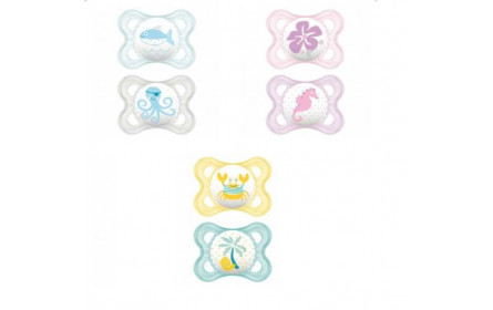 MAM set of 2 Silicone soothers 0-6 months
