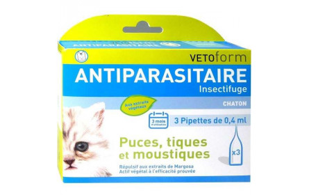 Vetoform Pipettes antiparasitaires chaton 3x0,4ml