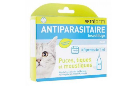 Vetoform Pipettes antiparasitaires chat 3x1ml