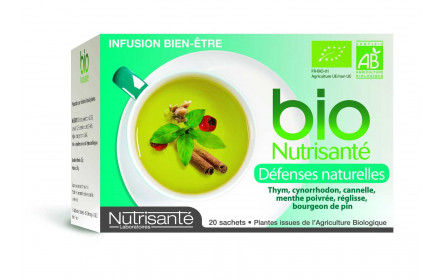 Natural 20 sobres de infusión Bio Nutrisanté defensas