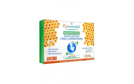 Puressentiel 3 aromatic honey lozenges x 24