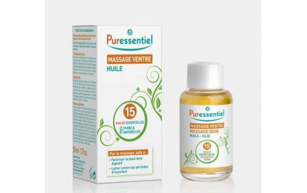 Puressentiel stomach massage oil with 15 essential oils 50 ml