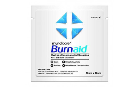 Mundicare Burnaid Compresses anti-brûlures 10x10cm