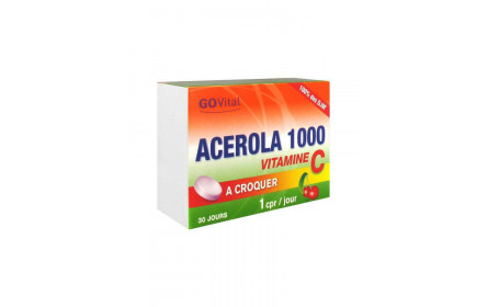 Urgo Govital acerola 1000 30 chewable tablets