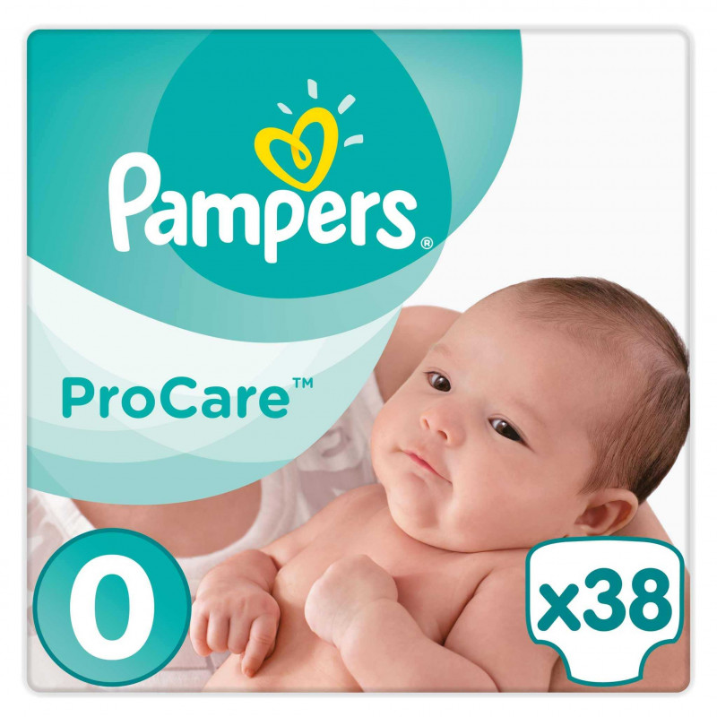 pampers procare 38 couches taille 0 1 5 2 kg. Black Bedroom Furniture Sets. Home Design Ideas