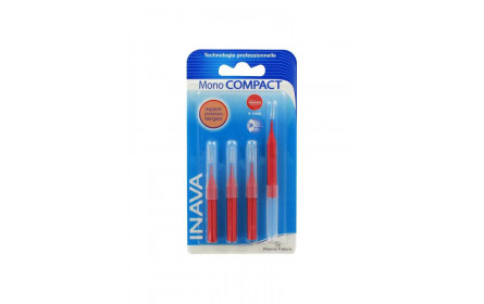 Inava mono compact 4-3mm x 4 ortho-dental brushes