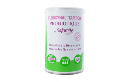 Saforelle Florgynal Probiotique tampons super x 9 with compact applicator