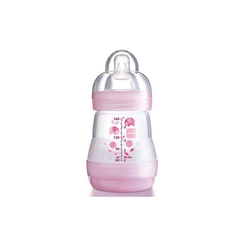 Biberon Anti Colique Rose 160ml MAM