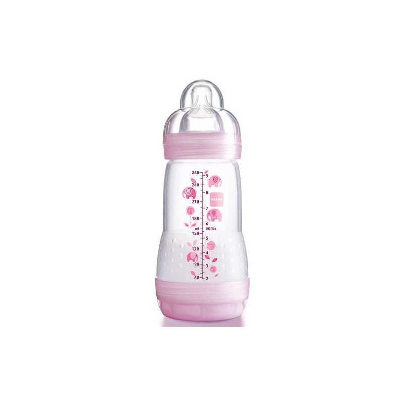 Biberon Anti Colique Rose 260ml MAM