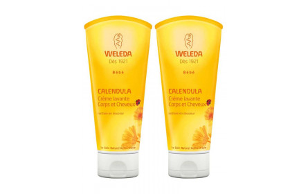 Weleda Calendula Body & hair cleanser offer of 2 x 200 ml