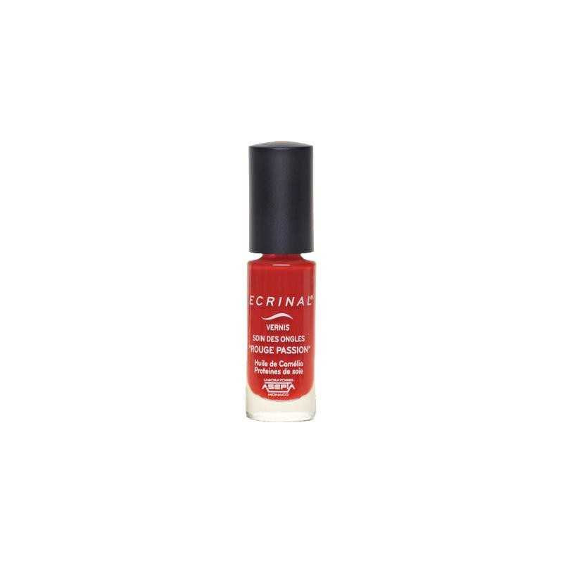 Rouge Passion  Vernis Soin des Ongles Ecrinal 6ml Asepta