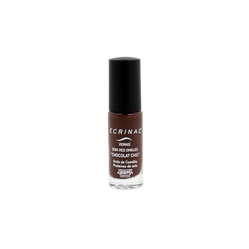 Chocolat Chic Vernis Soin des Ongles Ecrinal 6ml Asepta