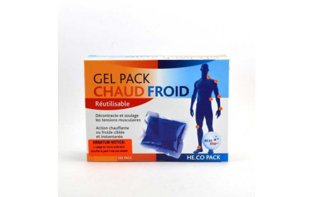 Gel Pack Chaud Froid Réutilisable 14 x 20cm He.Co Stop