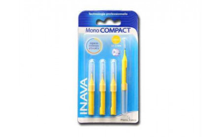 Inava Mono Compact 2,5 - 2,2mm 4 interdental brushes + 2 Offered