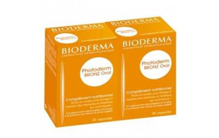 Bioderma Photoderm Bronz Oral Complément Nutritionnel 2x30 capsules
