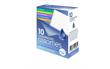 Compresses Assorties x 10 He.Co Stop